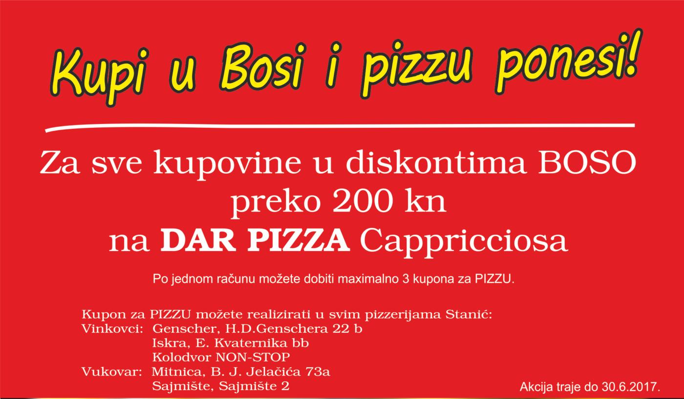 Pizza za račune preko 200 kn