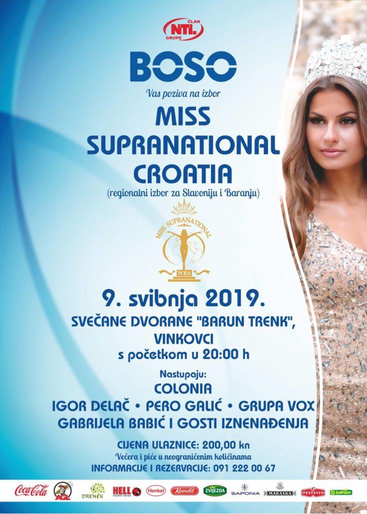 MISS SUPRANATIONAL CROATIA 9. SVIBNJA 2019.